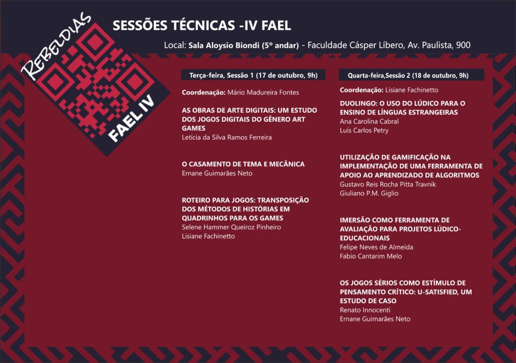 Sessões técnicas FAEL IV